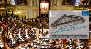 FIAPAS subtitulará el acto de apertura de la XII Legislatura