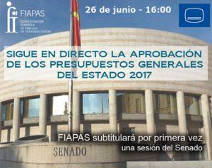 FIAPAS subtitulará por primera vez una sesión del Senado