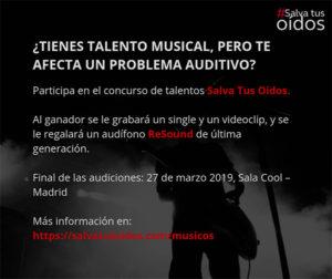 """Campaña """"Salva tus Oídos"""" para músicos con discapacidad auditiva"""