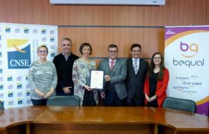 La CNSE recibe el Sello Bequal Plus, que certifica su política de inclusión de la discapacidad