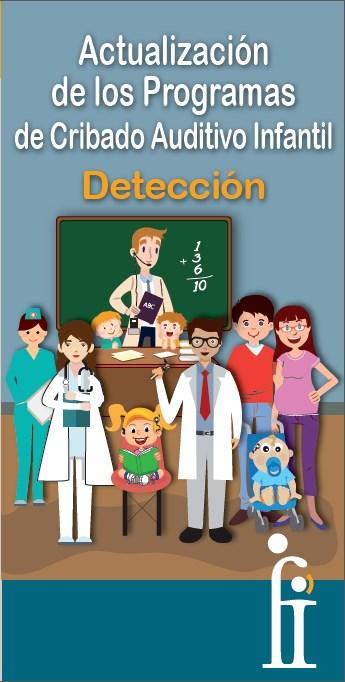 Clase de colegio en la que hay un profesor, médicos, familias y niños sordos.