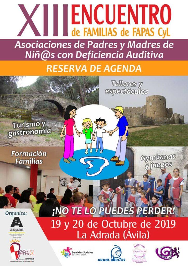 Encuentro de Familias de FAPAS CyL el 19 y 20 de octubre