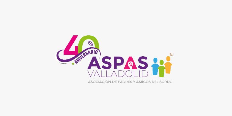 Nuevo logotipo de ASPAS Valladolid con el 40 aniversario