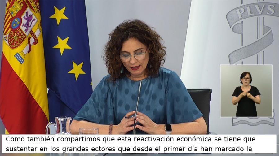Consejo de Ministros accesible con subtitulado e intérprete de lengua de signos
