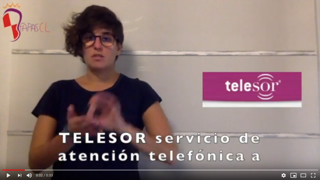 Captura del video explicando Telesor