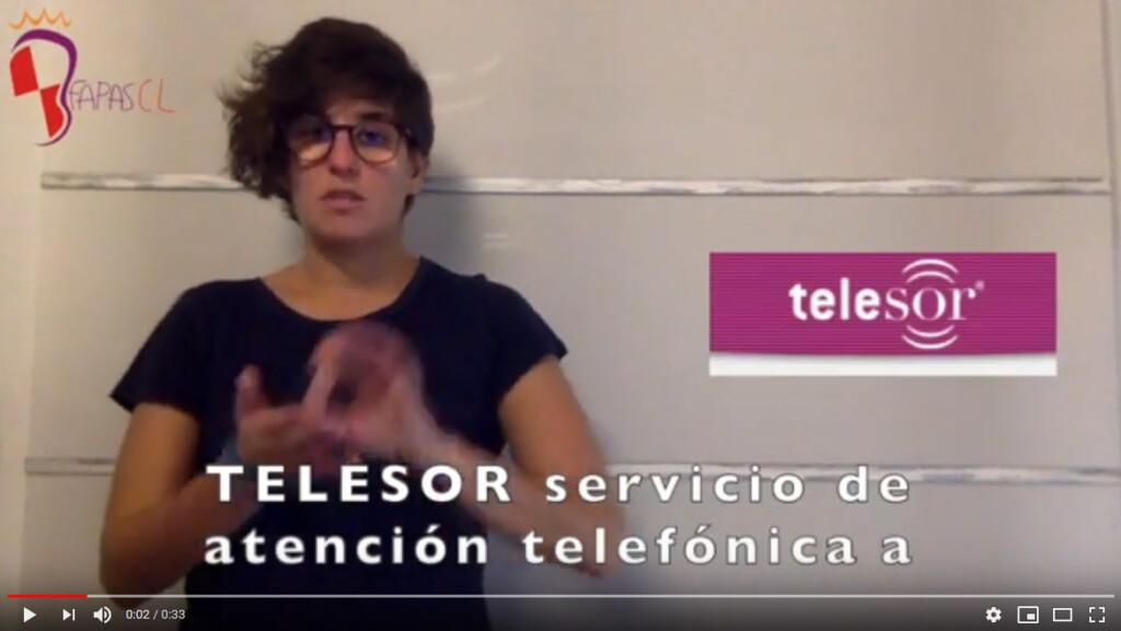 Captura del video explicando Telesor