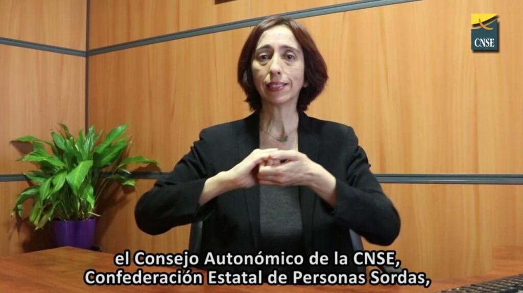 Conchita Díaz en la declaración por la accesibilidad