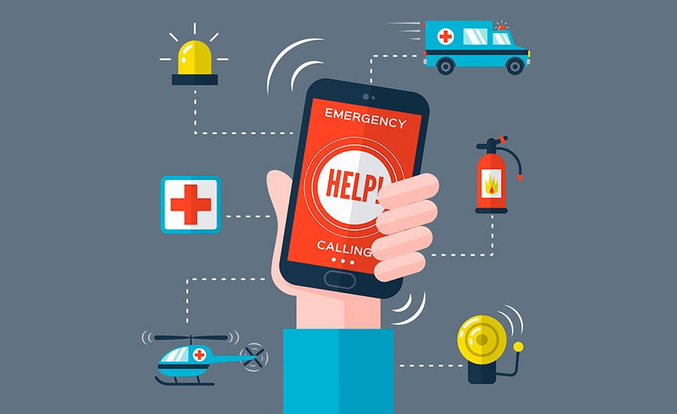 Diferentes llamadas de emergencias que se pueden hacer desde un móvil
