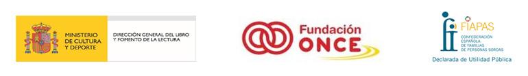 Logos del Ministerio de Cultura, Fundación ONCE y FIAPAS