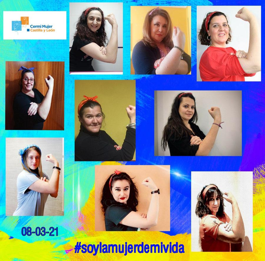 Fotos de mujeres con el brazo en señal de fuerzo