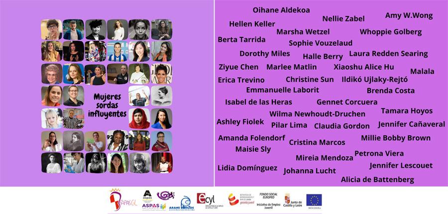 Listado de mujeres sordas influyentes